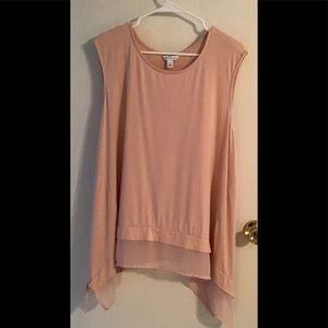 Plus size Boutique pink 2x top wit lace
